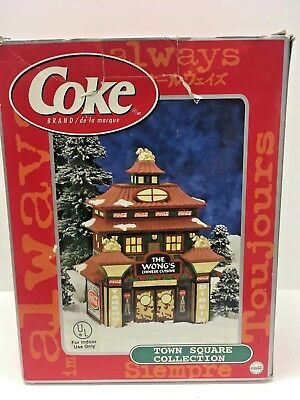 Coca-Cola Town Square Collection - The Wong's Chinese Cuisine -Christmas village