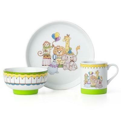 Circus Friends  3 piece Children's Dinner Set by Lenox  New in BOX