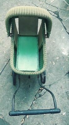 Vintage Wicker Baby Buggy Stroller Carriage Doll Antique. Early 1920s I was told