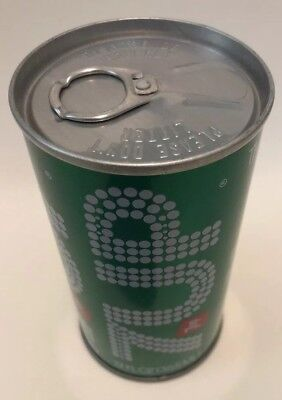 VINTAGE  7 up SODA  CAN W/ PULL TAB INTACT  NR