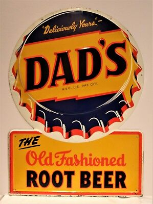 Dads Root Beer Bottle Cap Sign