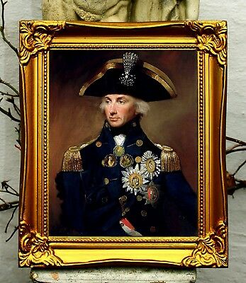 Lord Nelson - Superb Portrait Oleograph on Canvas
