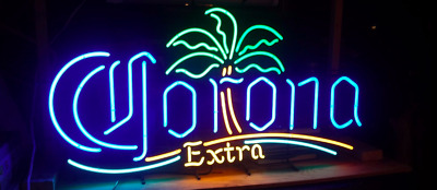 """Corona Extra """"CO"""" Palm Tree Replacement Part Neon Beer Sign Light"""