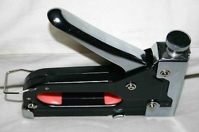 Heavy Duty Staple Gun Stapler Tacker With Staples Fabric Upholstery Wood Work