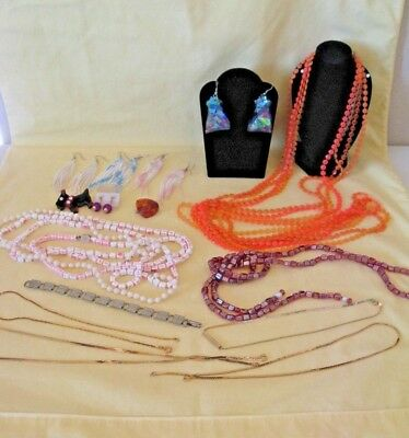 Vintage Lot 15 pieces of 1950s 60s & 70s Costume Jewelry mixed items VERY NICE