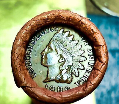 1899/1906 Indian Head/wheat Penny Cent Shotgun Roll From Estate B16
