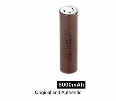 100% GENUINE LG HG2 18650 Lithium 3000mAh 30A 3.7v Li-ion Battery