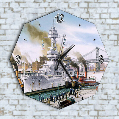 Old Vintage Ship Sailors - Home Office Kitchen Kids Living Room Decor Wall Clock