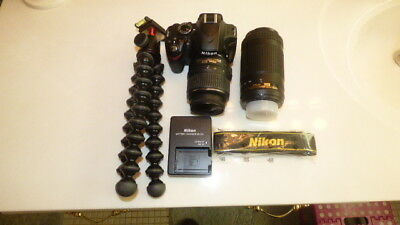 Nikon D3200 24.2Mp Digital Slr Camera -Black Kit 18-55Mm Lens & 70-300Mm Lens