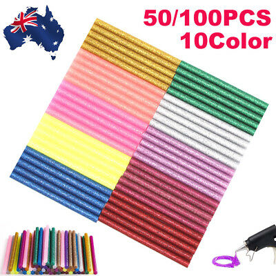 Color Glitter Hot Melt Glue Adhesive Sticks craft Card 50/100PCS/pack