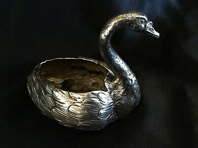 Antique Silver Swan From 19 Century Germany Magnificent Quality Hanau Hallmarks