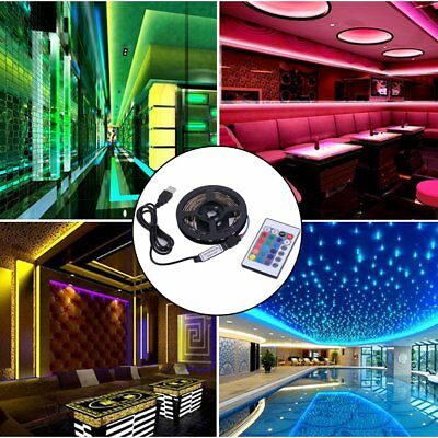 1M/2M/3M/4M Low Power Consumption 5050 RGB USB LED Strip 4PIN String Light VR