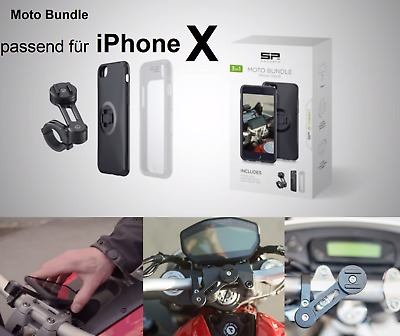 SP CONNECT Motorrad Smartphone Halterung MOTO BUNDLE Apple iPhone X