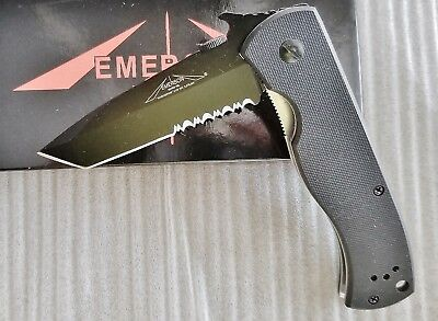 Emerson Knives CQC-7B-BT Black COMBO Edge Knife REPRODUCTION -Stock in USA