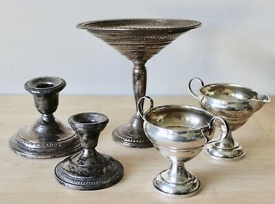 Vintage STERLING SILVER Weighted SCRAP or USE Various Makers (Lot of 6)