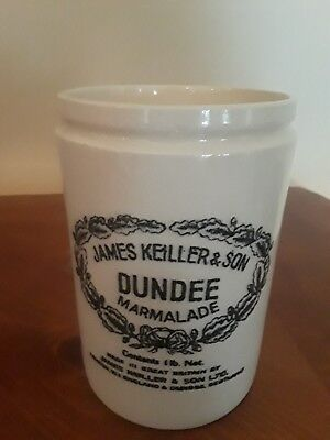 Vintage James Keiller & Son Dundee Orange Marmalade Ceramic Crock Jar
