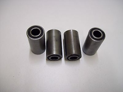 Four replacement  Leaf Spring  rubber Bushes ifor williams type   FREE P&P
