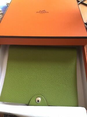 New. Authentic Hermes Ulysse Notepad.  Apple Green