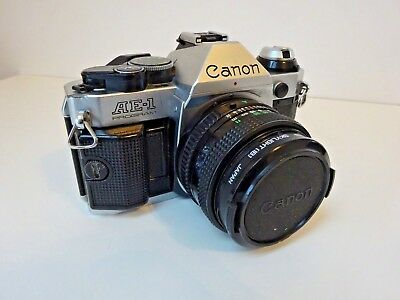 Canon AE-1 Program Film Camera with 50mm f1.8 Canon FD lens