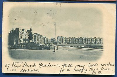Southsea Hampshire England UK litho postcard 1900s