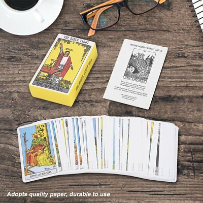 78Pcs Rider Waite Tarot Deck Vintage Future Telling Game Card Friends Game