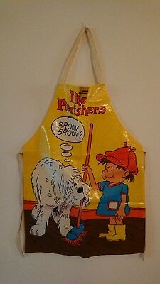 Vintage 1970's The Perishers Cartoon Childrens Cooking Apron