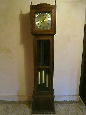 Grandfather Clock - with beautiful oak case - & Westminster Chimes