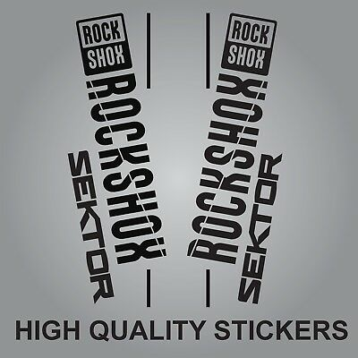 Rock Shox sektor forks decals stickers adhesive graphics bike bicycle 2017 2018