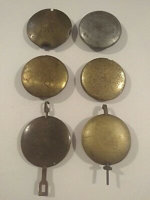 6 Vintage Clock Pendulums - Spare Parts For Antique Clock Makers