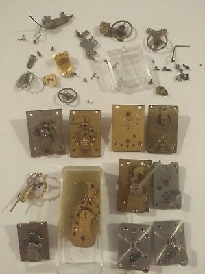 Job Lot Platform Escapements & Parts - Antique Brass - Parts for Carriage Clocks