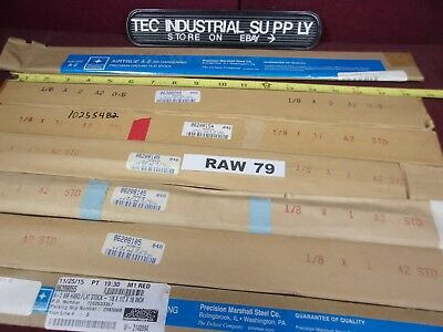 """A2 A-2 Tool Steel Lot Of 13 Asorted 1/8"""" Thick Flat Stock In Various Sizes Raw79"""