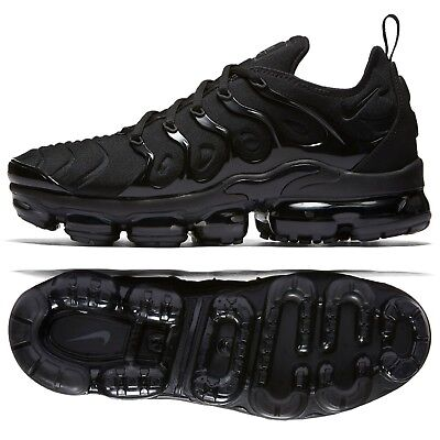 Nike Air VaporMax Plus 924453-004 Triple Black/Dark Grey Men's Running Shoes