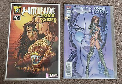 Witchblade and Tomb Raider #1/2 with certificate, #1, NM, Top Cow comics, Image