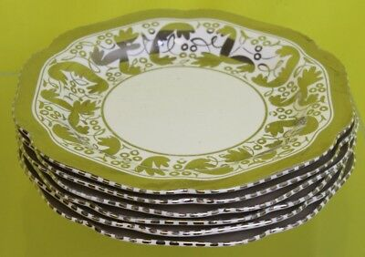 6 Silver & White Wedgwood Dinner Plates ##OAFTS06RG