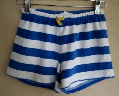 Mini Boden Cream & Blue Striped Towelling Cotton Shorts Age 10 years