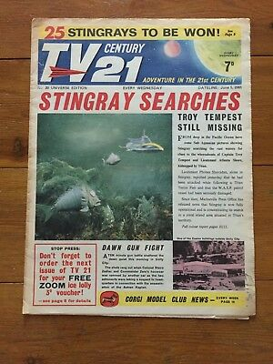 TV CENTURY 21 No. 20 - 5.06.1965 - VG+  - STINGRAY FIREBALL XL5
