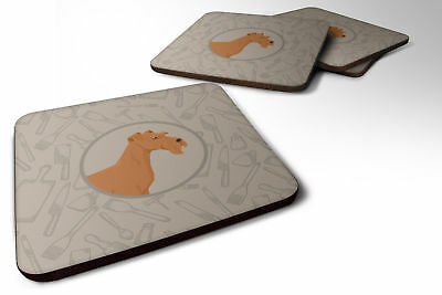 Set of 4 Irish Terrier In the Kitchen Foam Coasters Set of 4