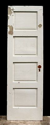 "24""x80"" Antique Vintage Interior SOLID Wood Wooden Closet Pantry Door 4 Panels"