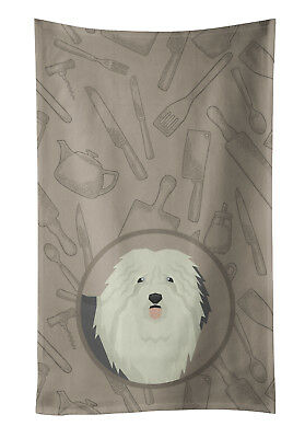 Old English Sheepdog In the Kitchen Kitchen Towel