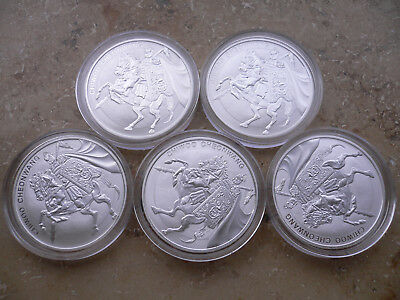 5x 2017 South Korea 1 Oz Silber Chiwoo Cheonwang