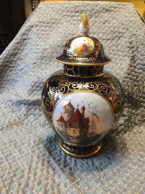 Lovely Dresden Jar With Lid Dresden Ca.1900