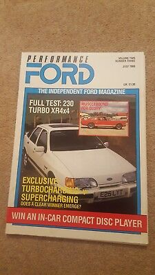 Performance Ford Magazine - July 1988