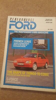 Performance Ford Magazine - August 1988