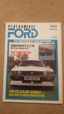 Performance Ford Magazine - October 1988