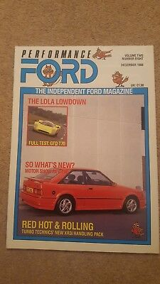 Performance Ford Magazine - December 1988