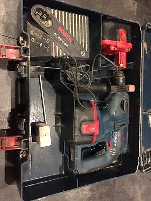 Bosch 24v Cordless SDS Plus Hammer Drill, Charger, 2 Batteries, Case.