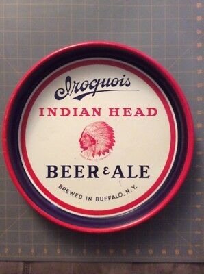 Vintage Buffalo NY Iroquois Beer Tray Red White Blue Take A Look!