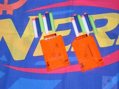 Nerf Elite 6 dart mags x2 +12 Genuine Hasbro DARTS N-Strike Modulus NEW