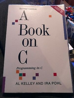 A Book on C. Programming In C by Pohl, Ira Paperback Book