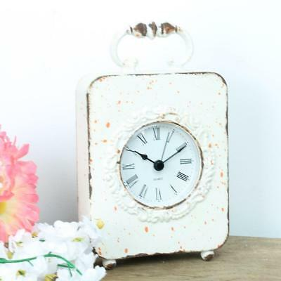 Carriage Vintage Table Clock Desk Mantel Mini Dressing up shabby chic Square